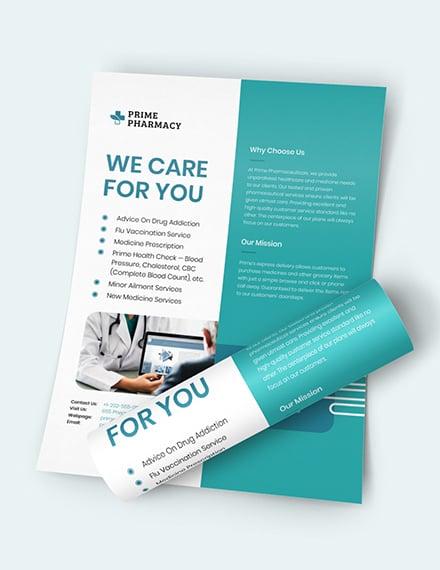 Pharmacy Advertising Flyer Download
