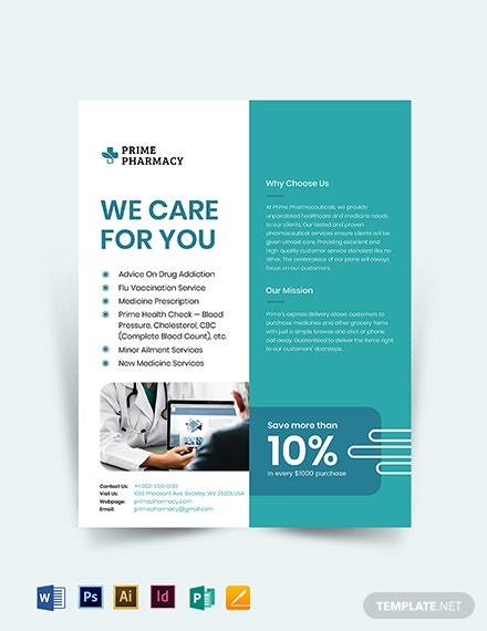 Free Pharmacy Advertising Flyer Template