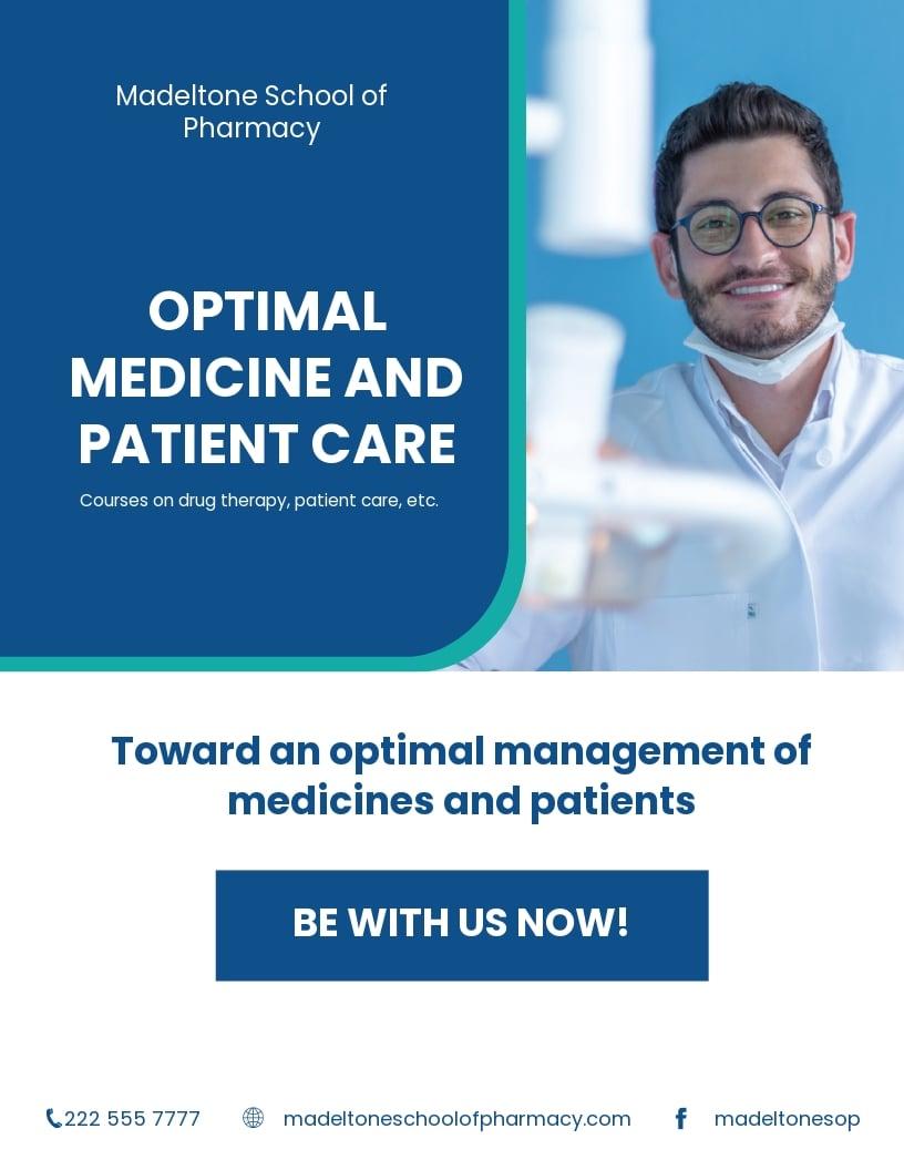 FREE Pharmacy School Flyer Template
