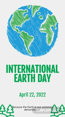 Free International Earth Day Snapchat Geofilter Template