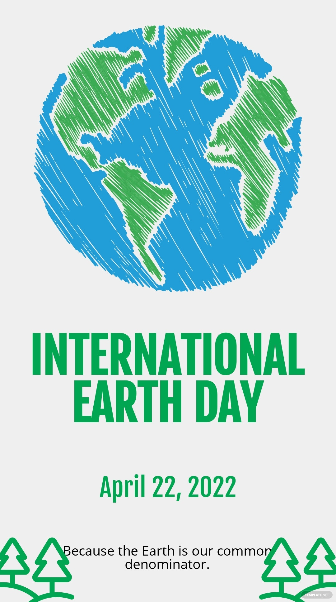 International Earth Day Snapchat Geofilter Template