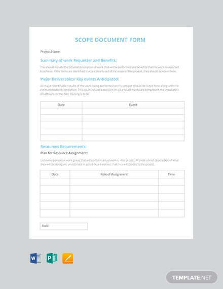 Free Scope of Work Document