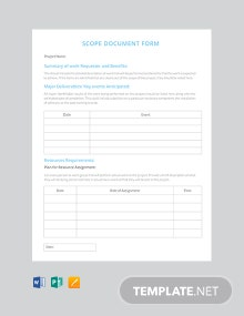 Free Scope of Work Document