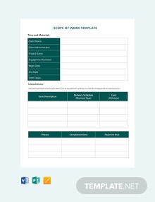 Free Scope of Work Template
