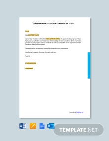 Free Counter Offer Letter For Commercial Lease
