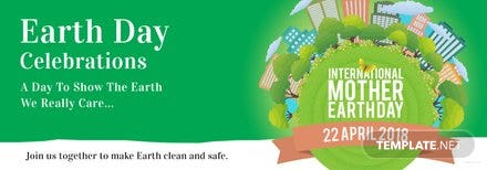 Free International Earth Day Tumblr Banner Template