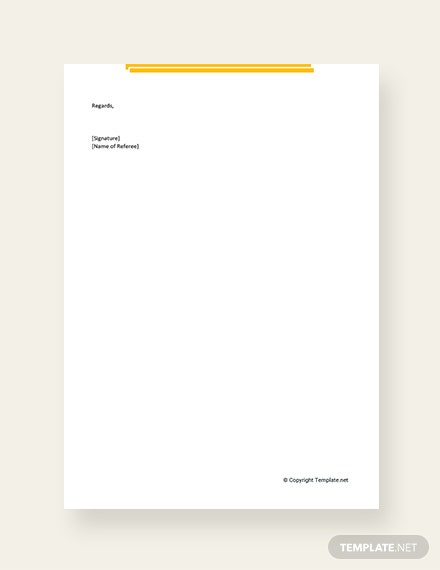 free project manager reference letter template download 700