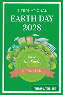 Free International Earth Day Tumblr Post Template