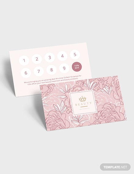 Sample beauty loyalty card