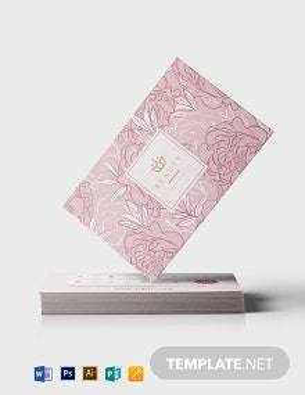 Beauty Loyalty card Template