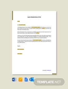 FREE Sales Promotion Letter