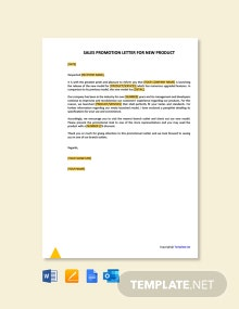 Free Sales Promotion Letter for New Product
