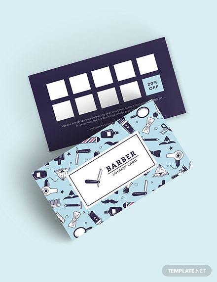 Sample customer loyalty card