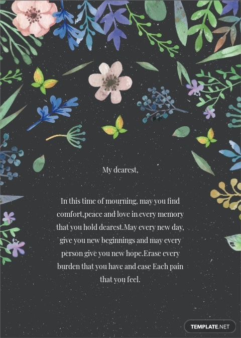 Floral Sympathy Card Template 1.jpe