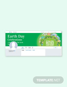Free International Earth Day Twitter Header Cover Template
