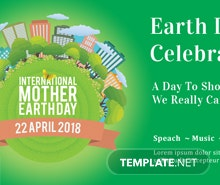 Free International Earth Day Twitter Post Template