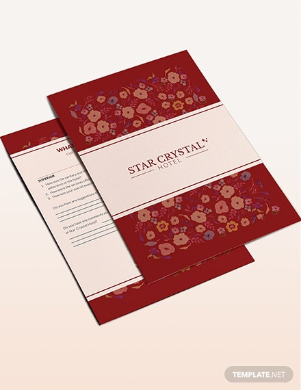 Hotel Customer Comment Card Download