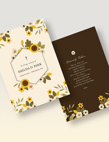 Memorial Card Download