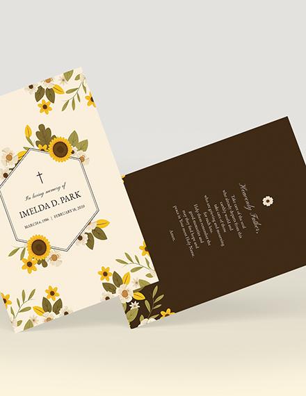 Sample Memorial Card