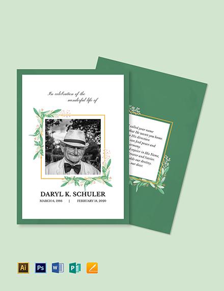 Memorial Service Card Template
