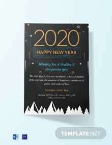 Free Chalkboard New Year Invitation