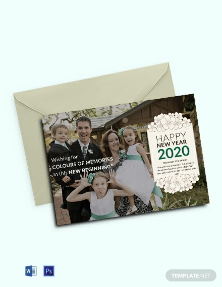 Free New Year Photo Invitation