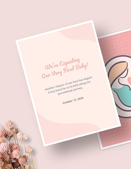 Sample Pregnancy Announcement Card