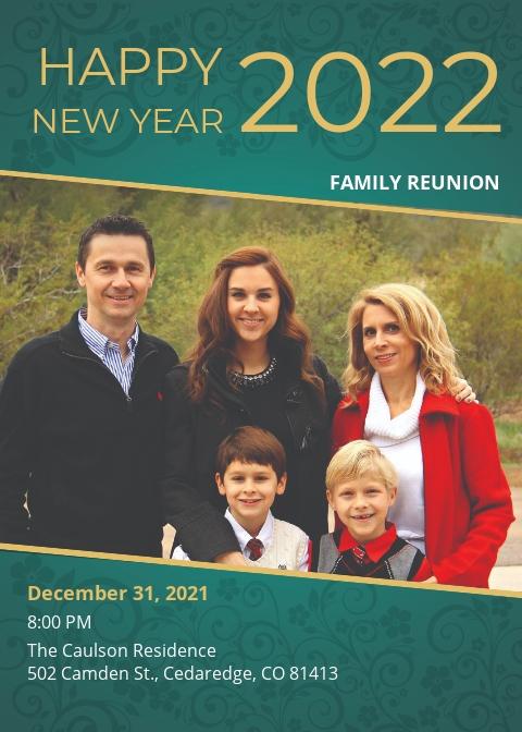 Free Family New Year Invitation