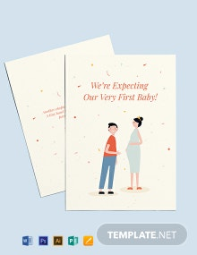 Surprise Pregnancy Announcement Card Template