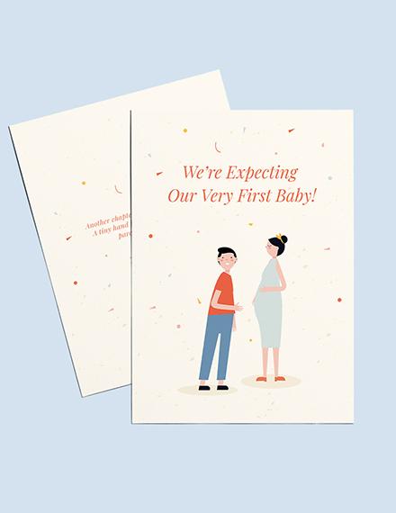 Surprise Pregnancy Announcement Card Template