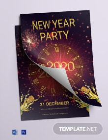 Free Elegant New Year Party Flyer