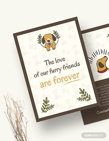Sample Sympathy Card For Loss Of Dog