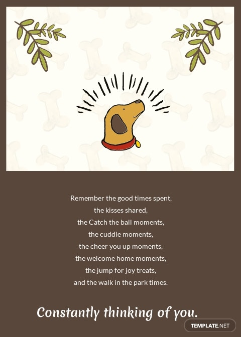 Sympathy Card For Loss Of Dog Template 1.jpe