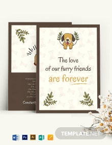 Sympathy Card For Loss Of Dog Template
