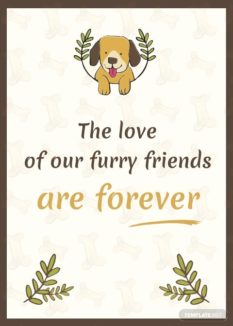 Sympathy Card For Loss Of Dog Template.jpe