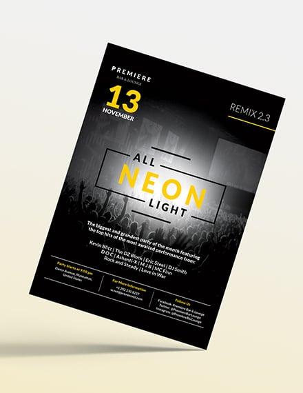 Black NightClub Party Flyer Download