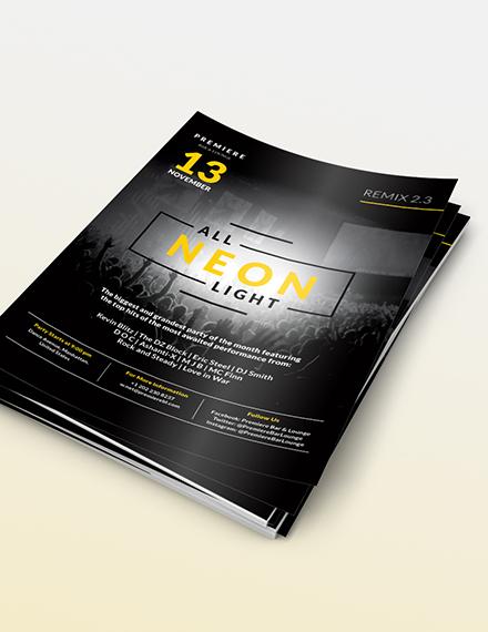 Sample Black NightClub Party Flyer