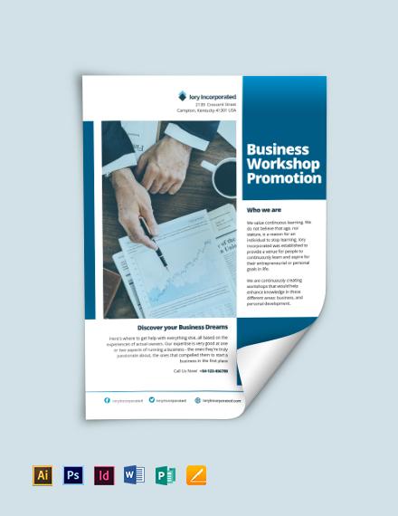 Business Workshop Promotion Flyer Template