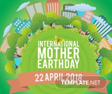 Free International Earth Day YouTube Channel Cover Template