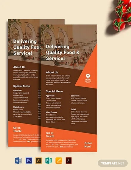Catering Rack Card Template