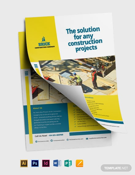Commercial Construction Flyer Template