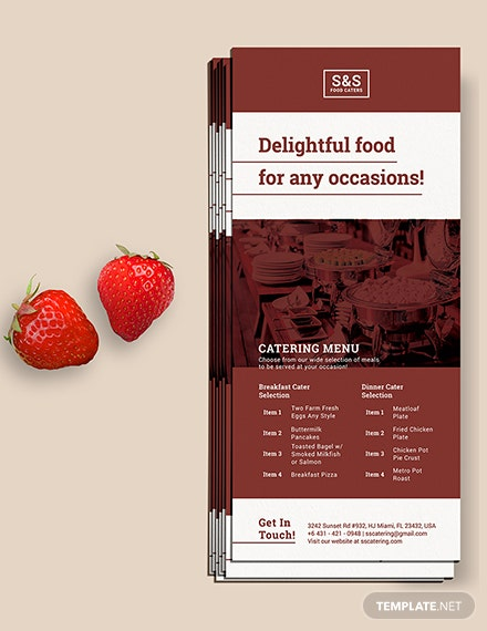 Food Catering Rack Card Download