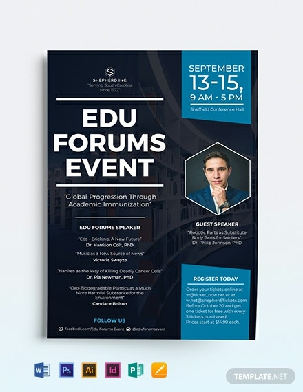 Event Advertising Flyer Template