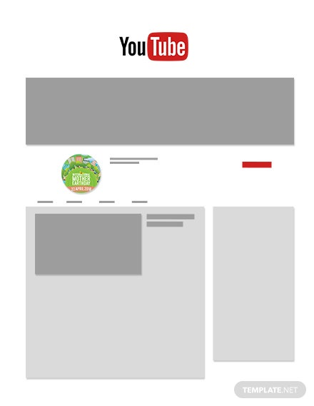 Free International Earth Day YouTube Profile Photo Template