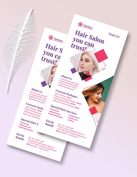 Hair Salon Rack Card Download