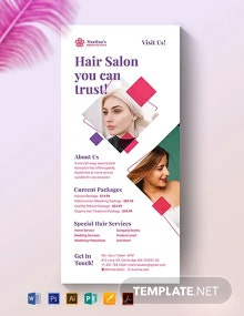 Hair Salon Rack Card Template