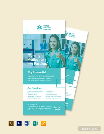 Hospital Rack Card Template