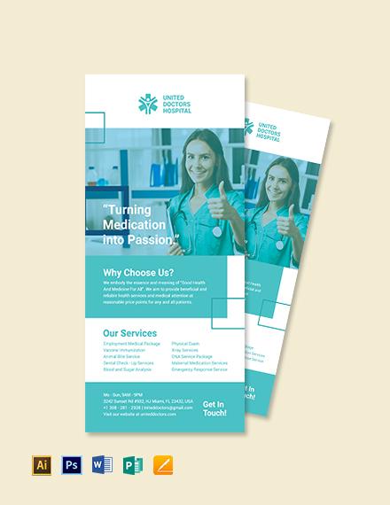 Hospital Rack Card Template