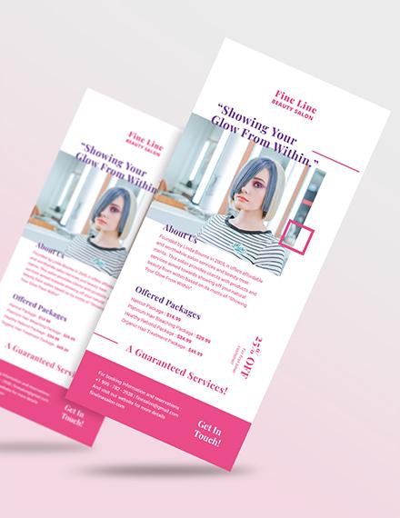 Salon Rack Card Download