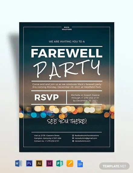 Farewell Party Flyer Template